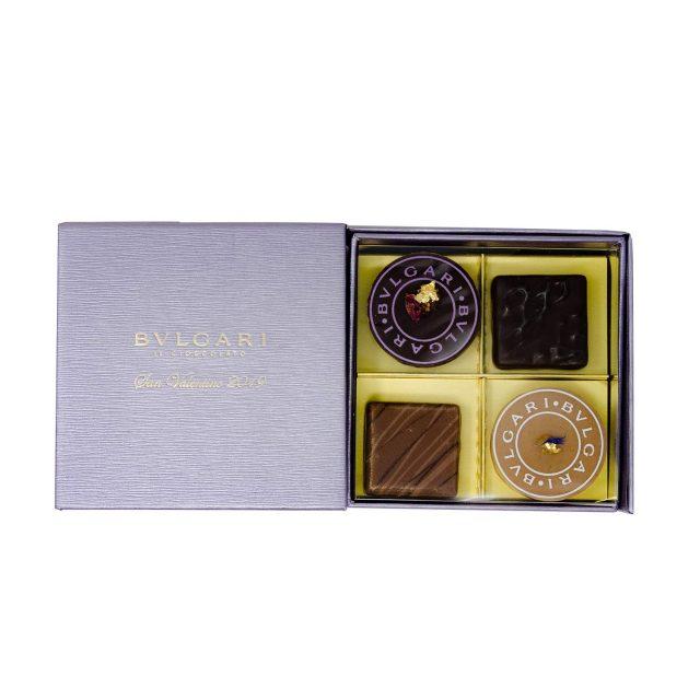 BVLGARI(ブルガリ)「チョコサン・バレンティーノ2019 チョコプラリネ」4個入