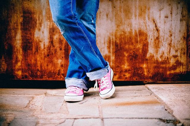 ピンクの靴