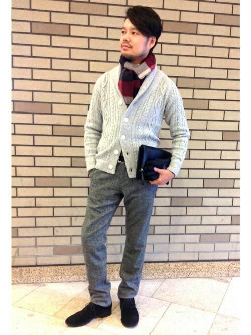 休日の40代男性のカジュアルな服装①