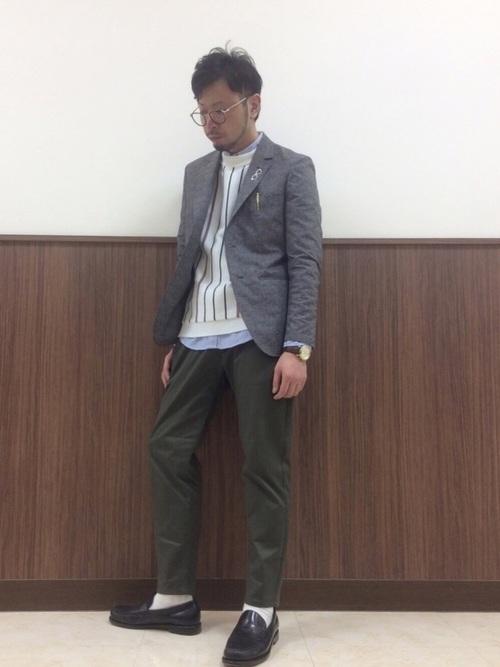 平日の40代男性の服装②