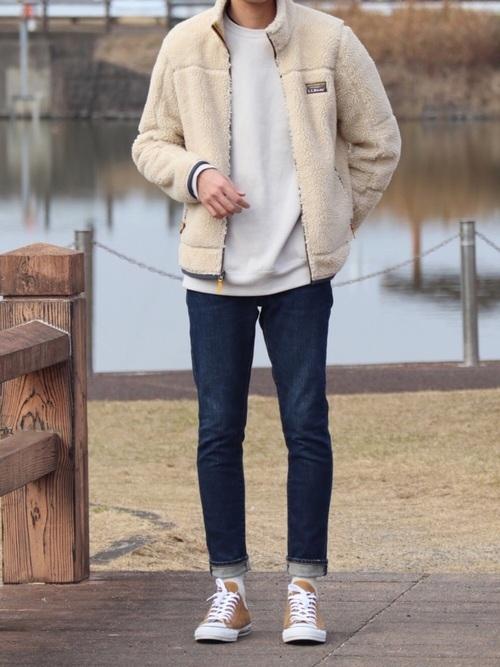冬のドライブデートにおすすめの男性の服装②