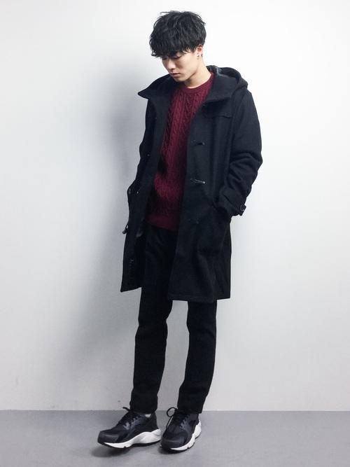 冬のデートにおすすめの男性の服装①