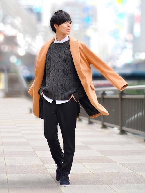 冬のデートにおすすめの男性の服装②