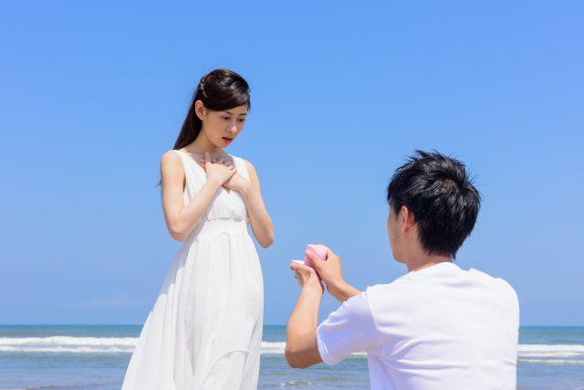 プロポーズされる女性