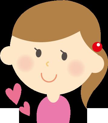 笑顔の女子大生